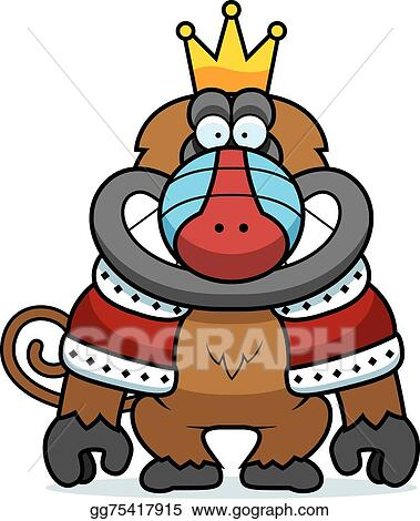 vector illustration cartoon baboon king stock clip art gg75417915 rh gograph com baboon clip art for kids