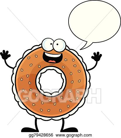 vector illustration cartoon bagel talking eps clipart gg79428656 rh gograph com bagel clip art free bagel clip art free