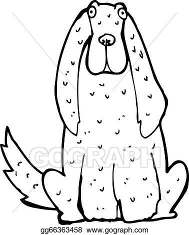 Vector Clipart Cartoon Big Dog Vector Illustration Gg66363458
