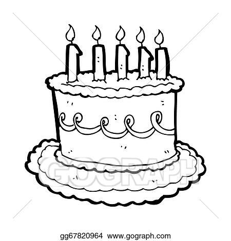 Stock Illustration Cartoon Birthday Cake Clipart Drawing