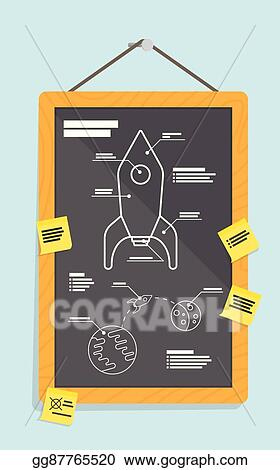 Clip art vector cartoon blueprint of rocket ship stock eps cartoon blueprint of rocket ship malvernweather Gallery