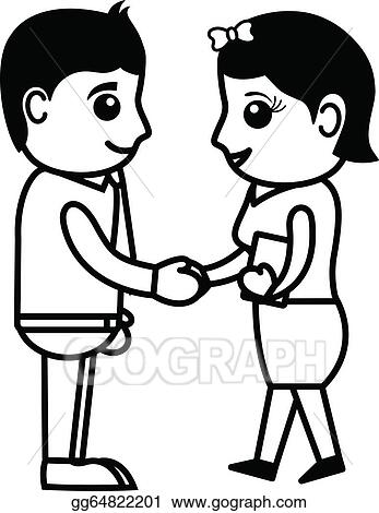 Business People Shaking Hands Clip Art