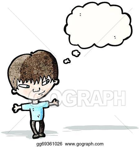 Boy Thinking Drawing