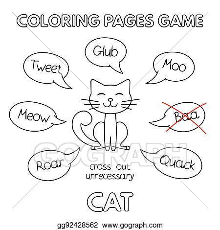 - EPS Illustration - Cartoon Cat Coloring Book. Vector Clipart Gg92428562 -  GoGraph