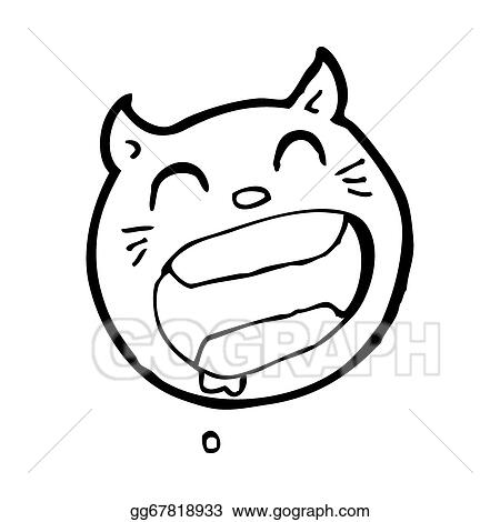 Drawing Cartoon Cat Face Symbol Clipart Drawing Gg67818933 Gograph