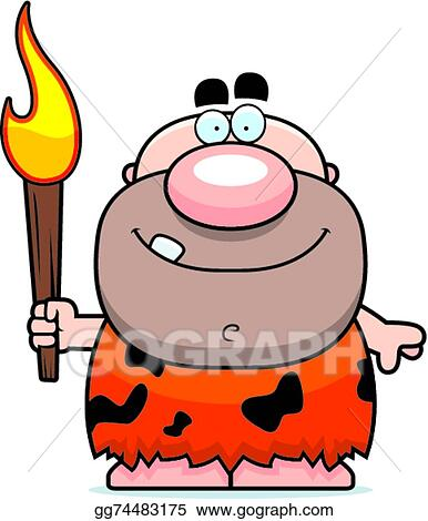 Black Fire Flame Torch Icons Set Cartoon Caveman
