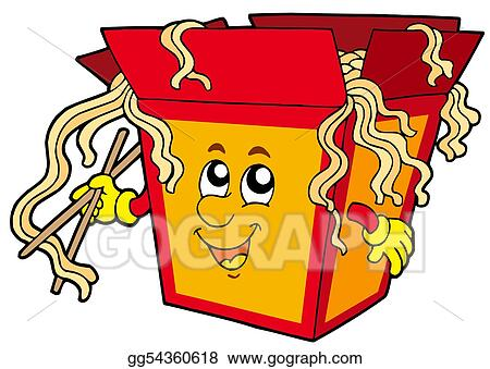stock illustration cartoon chinese food clipart drawing rh gograph com chinese food cartoon box chinese food cartoon images