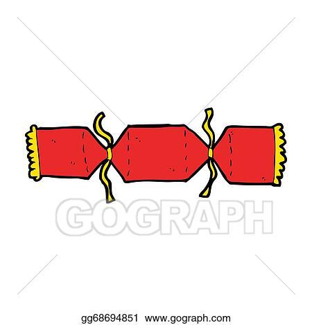 Christmas Cracker Clipart.Stock Illustration Cartoon Christmas Cracker Clipart