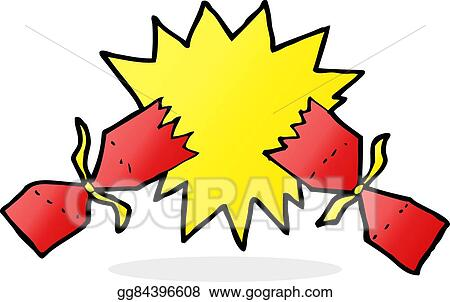 Christmas Cracker Vector.Vector Stock Cartoon Christmas Cracker Stock Clip Art