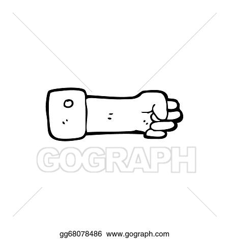 Drawings Cartoon Clenched Fist Symbol Stock Illustration