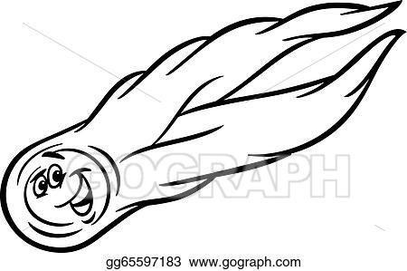 clip art vector cartoon comet coloring page stock eps gg65597183 rh gograph com Black and White Star Clip Art Black and White Galaxy and Stars Clip Art