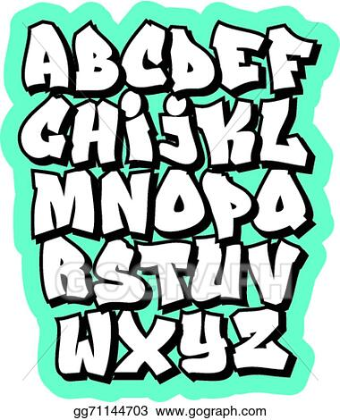 vector illustration cartoon comic graffiti doodle font alphabet rh gograph com