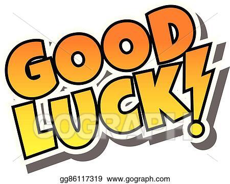 vector art cartoon comic text good luck clipart drawing rh gograph com good luck clipart free free good luck clipart images