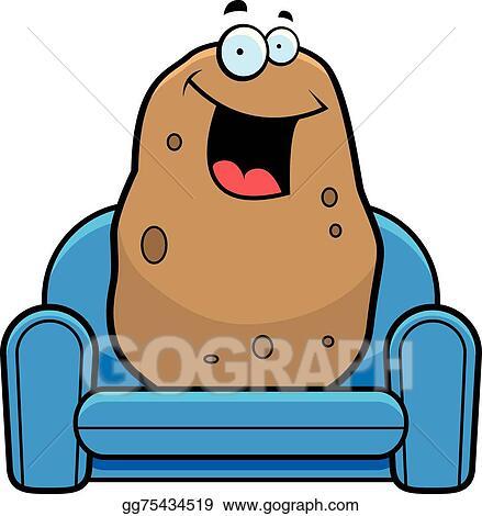 Couch Potato Lazy Cartoon