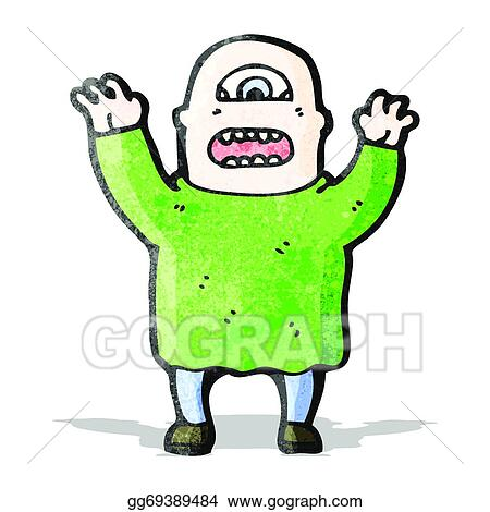 vector art cartoon cyclops clipart drawing gg69389484 gograph rh gograph com Cyclops Micro Cap Light free clipart cyclops