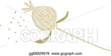 Eps illustration cartoon dried poppy flower vector clipart cartoon dried poppy flower mightylinksfo