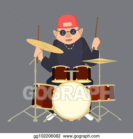 Spring Break Anime - Drummer Clipart - Png Download (#3252722) - PinClipart