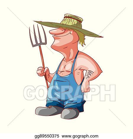 vector stock cartoon farmer or redneck stock clip art gg89550375 rh gograph com  redneck fishing clipart