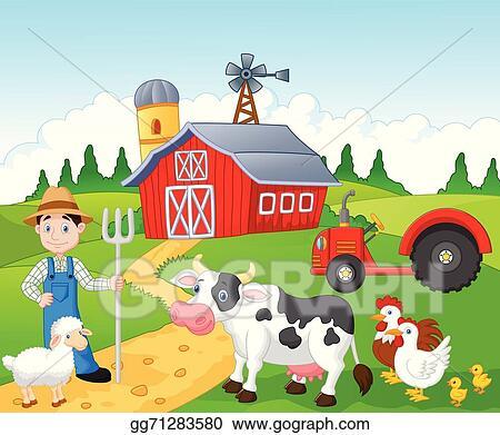 vector art cartoon farmer working in the farm clipart pitchfork clipart images pitchfork clipart free