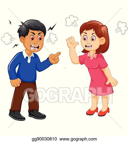 vector stock cartoon father and mother arguing clipart rh gograph com free clipart arguing arguing conflict clipart