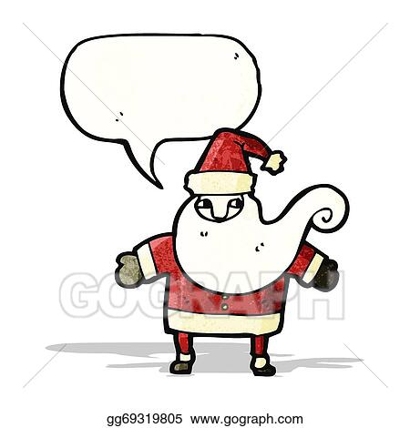 Father Christmas Cartoon Images.Vector Stock Cartoon Father Christmas Clipart