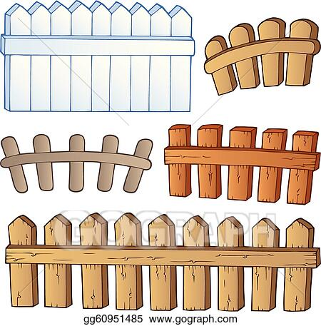 Vector Illustration Cartoon Fences Collection EPS Clipart - Cartoon fence clip art