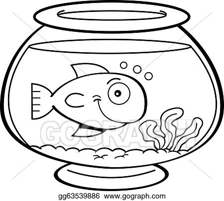 Vector art cartoon fish in a fish bowl clipart drawing for Wyoming game and fish draw results