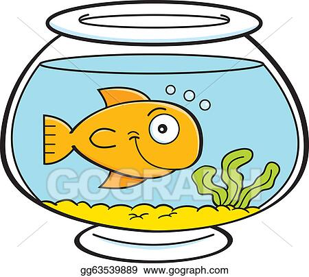 vector art cartoon fish in a fish bowl clipart drawing gg63539889 rh gograph com fish bowl clipart images goldfish bowl clipart
