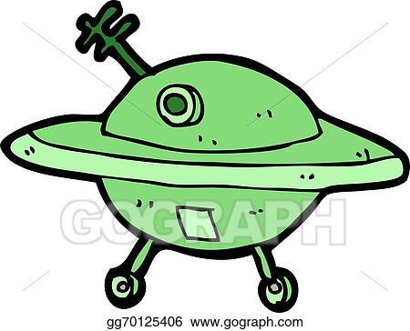vector illustration cartoon flying saucer stock clip art rh gograph com  flying saucer clipart