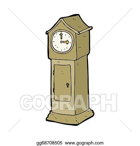 Stock Illustration - Cartoon grandfather clock  Clipart