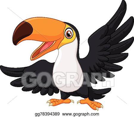 vector art cartoon happy bird toucan clipart drawing gg78394389 rh gograph com toucan clipart free toucan bird clipart