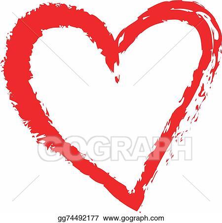 Clip Art Cartoon Heart Love Symbols Stock Illustration Gg74492177