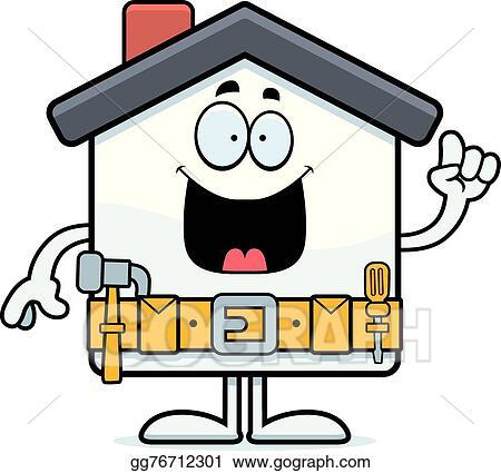 vector stock cartoon home improvement idea clipart illustration rh gograph com Home Improvement Tools home improvement store clipart