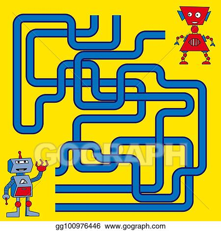 Vector Stock Cartoon Illustration Of Paths Or Maze Puzzle Activity Game Kids Learning Games Collection Clipart Illustration Gg100976446 Gograph