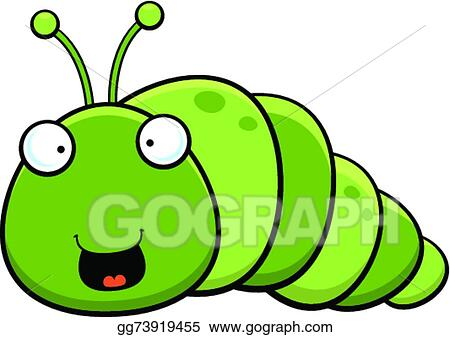 vector art cartoon inch worm happy clipart drawing gg73919455