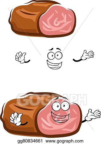 vector clipart cartoon isolated roast beef character vector illustration gg80834661 gograph https www gograph com clipart license summary gg80834661