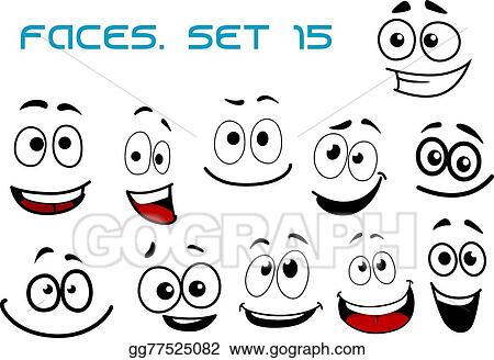 eps illustration cartoon laughing faces with googly eyes vector rh gograph com Happy Eyes Clip Art Eyes Looking Clip Art