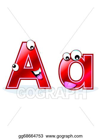 Vector Stock Cartoon Letter Aa Clipart Illustration Gg68664753