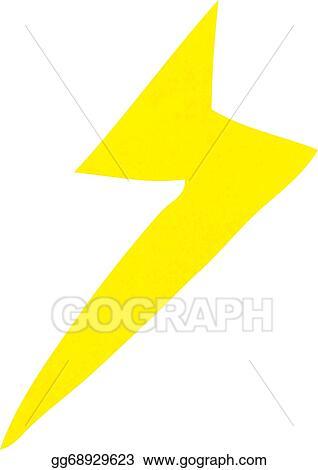 Eps Illustration Cartoon Lightning Bolt Symbol Vector Clipart