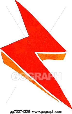 Eps Illustration Cartoon Lightning Bolt Symbol Vector Clipart