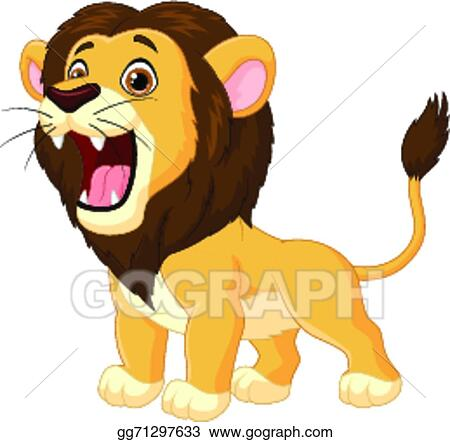 vector art cartoon lion roaring clipart drawing gg71297633 gograph rh gograph com roaring lion clipart free roaring lion clipart black and white