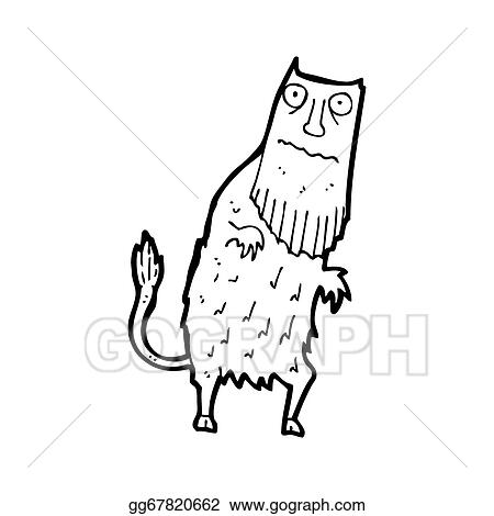 stock illustration cartoon magical forest creature clipart