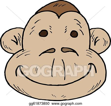 Drawing Cartoon Monkey Face Clipart Drawing Gg61873850 Gograph