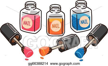 Vector Art Cartoon Nail Polish Clipart Drawing Gg66388214 Gograph
