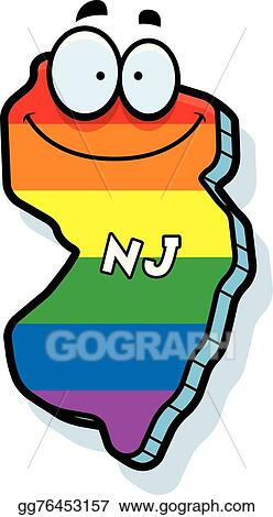 vector art cartoon new jersey gay marriage clipart drawing rh gograph com new jersey state clipart new jersey flag clipart