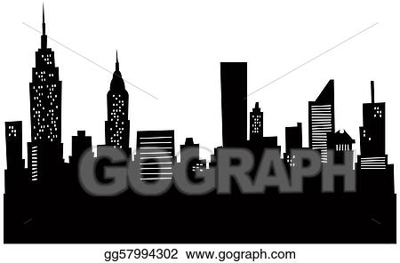 clip art cartoon new york skyline stock illustration gg57994302 rh gograph com New York Skyline Painting new york city skyline clipart