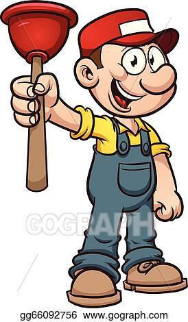 vector art cartoon plumber eps clipart gg66092756 gograph