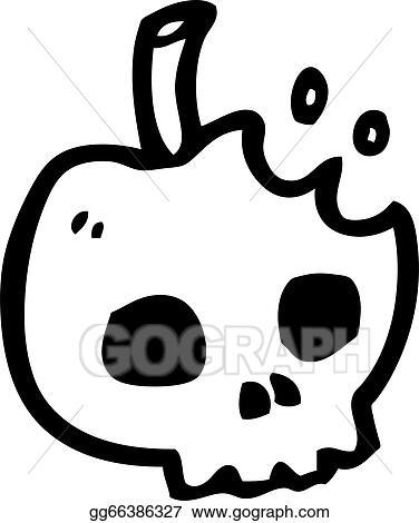 Eps Vector Cartoon Poison Apple Stock Clipart Illustration