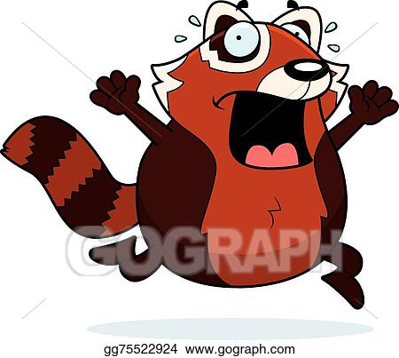 Red panda clipart