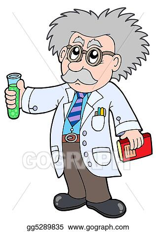stock illustration cartoon scientist clipart illustrations rh gograph com crazy scientist clipart girl scientist clipart